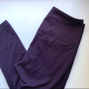 Yogalicious dark purple cropped leggings